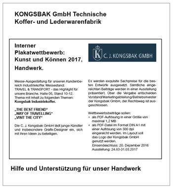 Kongsbak GmbH Interner Plakatwettbewerb